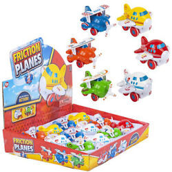 12 Pc 3.5 Chunky Friction Planes Toy Airplane Vehicles Cars Action Racing Kids