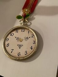 1950s Clock Ornament Marshfields Vintage Antique Christmas Holiday Chicago