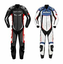 Spidi Motorcycle Bike Track Wind Pro Racing Leather Menand039s Vented Leather Suit