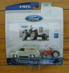 Ertl 1/64 Die-cast Set 1955 Ford Panel Delivery Truck W/ford 640 Tractor 13790