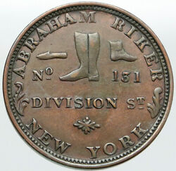 1860s United States Us Civil War Riker Shoes Patriotic Not One Cent Token I87601