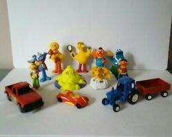 Vintage Mixed Lot Of Toys Sesame Street And Etc.