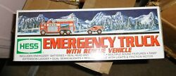 New In Box 2005 Hess Toy Truckemergency Truck With Rescue Vehicle Nrfb