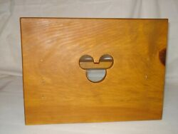 Vintage Childs Wooden Mickey Mouse Step Stool Children Kid Sit Stand Handmade