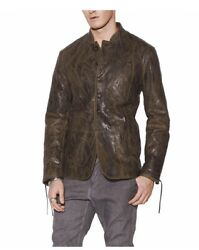 John Varvatos Winterfell Leather Jacket Got Game Of Thrones. Eu 50 Us 40