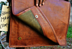 Vintage Leather messenger bag laptop bag computer case shoulder bag for men New $32.30