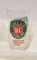 2 Vtg Hc Sinclair Gasoline 1926 Through The Years Drinking Glass Tumblers