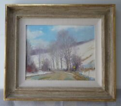 Vintage Original Oil Painting By James Mcginley Signed Winter Landscape