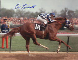 Secretariat 12 Photo Collection 8 X 10's One Signed By Ron Turcotte