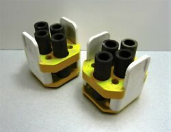 Beckman Th-4 Centrifuge Swing Bucket Tube Insert Adapters Yellow Qty 2