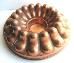 French Copper Cake Mold 19th Signed Trottier Paris