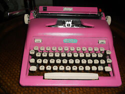 Antique 1970s Royal Miami Cotton Candy Pink Manual Typewriter Re-conditioned Ev