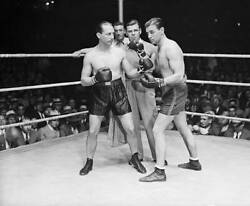 Benny Leonard And Pal Silvers Boxing 1931 Old Boxing Photo