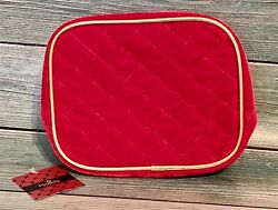 Modella Cosmetic Makeup Bag Fashion Organizer Red Gold Velvet New with Tag NEW $19.99