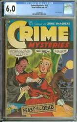Crime Mysteries 15 Cgc 6.0 Ow Pages // Acid-in-face Cover