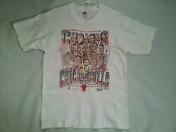 Vintage Made In Usa 1991 Chicago Bulls Nba World Champion Tshirt In Size L