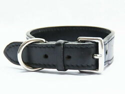 Hermes H Pattern Pet Dog Collar Lead Set Color Black Brown With Box Scalf Used