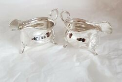 Sterling Silver Sauce / Gravy Boats. Sheffield 1922 .by Cooper Brothers And Sons