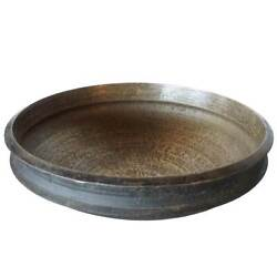 Antique South Indian Solid Bronze Cooking Vessel Urli 23 Inches 19th Century