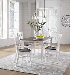 7 Piece Solid Maple Wood Dining Room Set | Full Kitchen Table Set With Table And