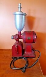 Vintage Hobart Electric Coffee Grinder With Grounds Bin -rare-great Condition