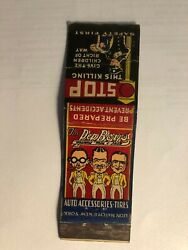 Rare Old Vintage The Pep Boys-auto Accessories,tires..a Matchbook.made In Usa