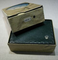 Rolex Super Rare Box And Outer Box With Leather Wallet For 1680 Submariner Red O