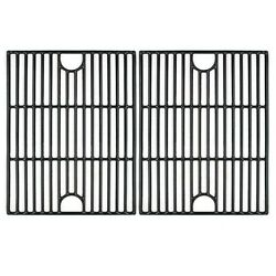 Vicool 17 Inch Polished Porcelain Coated Cast Iron Non-stick Grill Grates Rep...