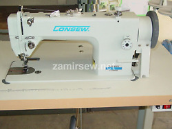 Consew Upholstery Walking Foot Industrial Sewing Machine With Table And Servo Mo