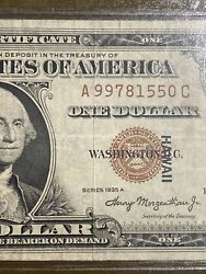 Error Misaligned 1935a World War Ii Emergency-issue Silver Certificates And Stamp!