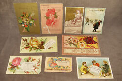 9 Vintage Trade Cards Advertising Clothing And Clothier Stores S