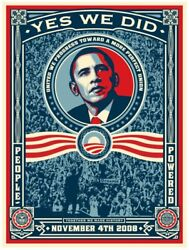 Obama Yes We Did Signed Limited Edition Print Obey Shepard Fairey