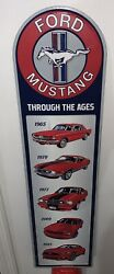 """🔥ford Mustang Collectible 30 Metal Embossed Display Sign """"through The Ages"""""""
