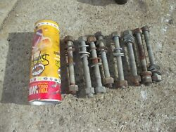 Farmall Super A Sa Ih Tractor 8 All Thread Bolts And Nuts To Hold Wheel Weights