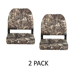 Folding Camo Boat Seats 2-pack Hunting Low Back Boats Seat