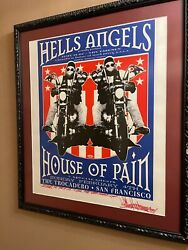 Hells Angels Motorcycle Danny Boy O Connor Ap Signed Taz Jim Evens House Of Pain