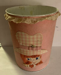 Rare Vintage Unique Made From Kit Metal Trash Can Or Waste Basket 60and039s /70andrsquos