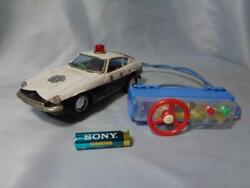 Nissan Fairlady Z S30 S31 Gs31 Police Car Tin Bandai Made In Japan 17 Cm Antique