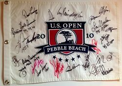 Pebble Beach U.s. Open Signed Flag 26 Champs Nicklaus Palmer Rory 2021 Pga