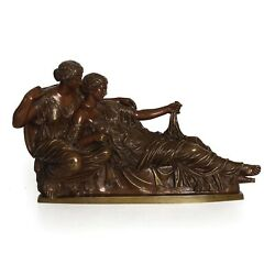 Two Fates German Bronze Sculpture After The Antique Cast By R. Bellair