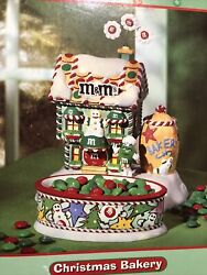 Dept 56 Mandmand039s Christmas Bakery Lighted House And Candy Dish