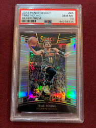 Trae Young 2018 Panini Select Silver Prizm Rookie Card Psa 10 Gem Mt Hawks