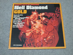 Neil Diamond - Signed Gold Album Cover With Jsa Cert And Vintage Tour Pass