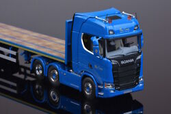 For Scania S 33-0077sp 3 Axis Flat Trailer Tractor 1/50 Diecast Model Car Truck