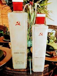 Adorable Set Of Empty Russian Hammer And Sickle Liquor Decanters