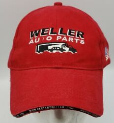 Weller Auto Parts Red Hat Lifetime Warranty Adjustable Great Lakes Embroidery