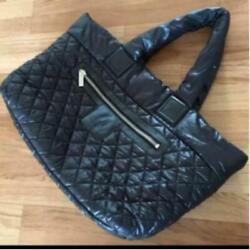 Used Coco Cocoon Large Tote Bag Black W50cm L33cm With Gcard Storage Bag