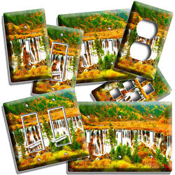 Nature Red Mountains Waterfall Cascade Light Switch Outlet Wall Plate Room Decor