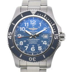 Breitling Super Ocean Ii A17392 Blue Dial Automatic Menand039s Watch ...
