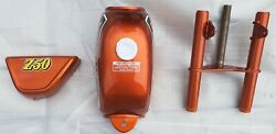 Honda Z50 Ak4 Gas Tank Side Cover And Fork Candy Orange